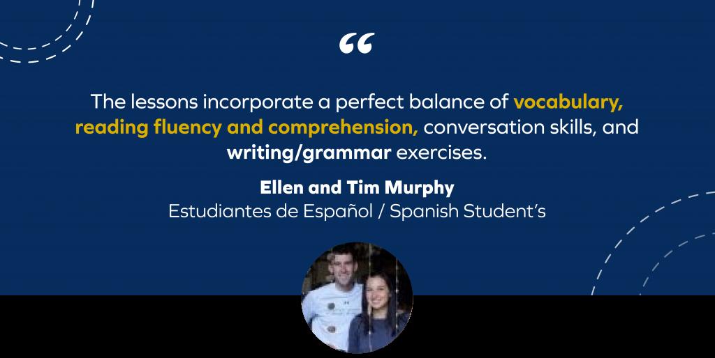 Ellen and Tim MurphyTestimonial Tgs Idiomas