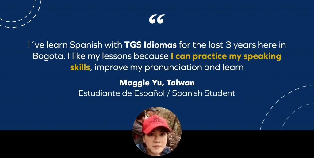 Maggie Yu, tTestimonialTgsIdiomas
